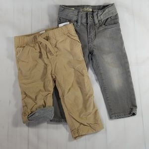 2 Pair Of Boys Pants - 12-18 Month